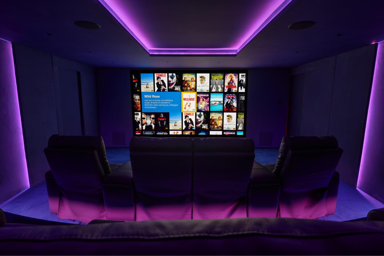 DMX lighting creates the perfect home cinema feel