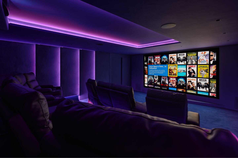 Comfort viewing in dedicated home cinema
