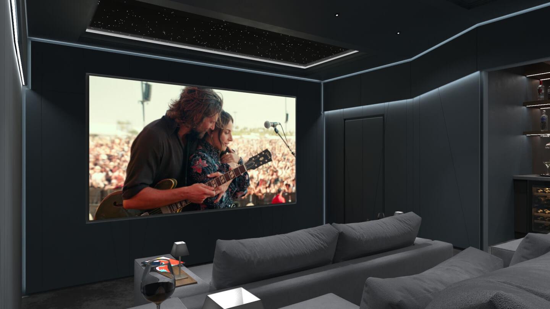 home cinema room full movie experience
